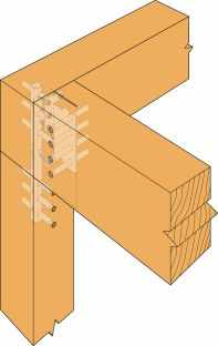 Simpson Strong Tie Cjt3l Concealed Joist Tie With Long Pins